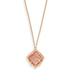 Kendra Scott rose gold Kacey Long pendant necklace